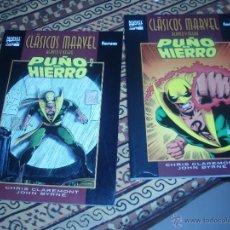 Cómics: CLASICOS MARVEL PUÑO DE HIERRO 1 Y 2 COMPLETA. Lote 43210079