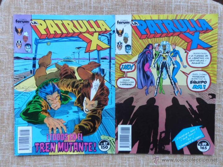 LA PATRULLA X COMICS, NÚMEROS 87 (1989) Y 89 (1990), FORUM, MARVEL, PLANETA DEAGOSTINI, C. CLAREMONT (Tebeos y Comics - Forum - Patrulla X)