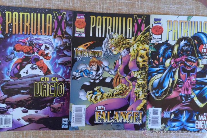 PATRULLA X COMICS, NÚMEROS 21, 22 Y 24, VOLÚMEN II, MARVEL, FORUM, PLANETA DEAGOSTINI, AÑOS 1997/98 (Tebeos y Comics - Forum - Patrulla X)