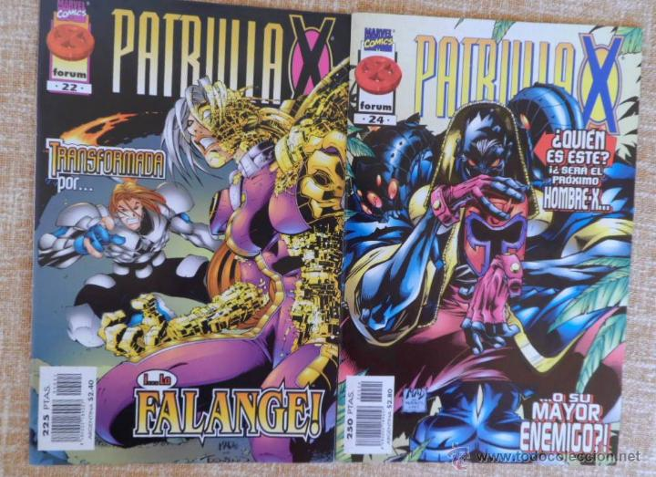Cómics: Patrulla X Comics, números 21, 22 y 24, Volúmen II, Marvel, Forum, Planeta DeAgostini, años 1997/98 - Foto 3 - 43465724