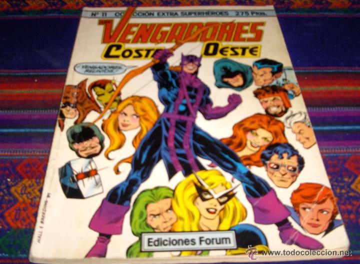 FORUM COL. EXTRA SUPERHÉROES Nº 11 VENGADORES COSTA OESTE. REGALO Nº 5 OJO DE HALCÓN. (Tebeos y Comics - Forum - Patrulla X)