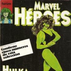 Cómics: FORUM -MARVEL HEROES RETAPADO CON LOS NUMEROS 36 AL 40 MUY BUEN ESTADO. Lote 39015338