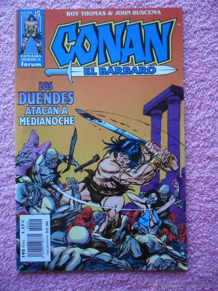 CONAN EL BARBARO 49 EDICIONES FORUM 1999 FANTASIA HEROICA CON POSTER (Tebeos y Comics - Forum - Conan)