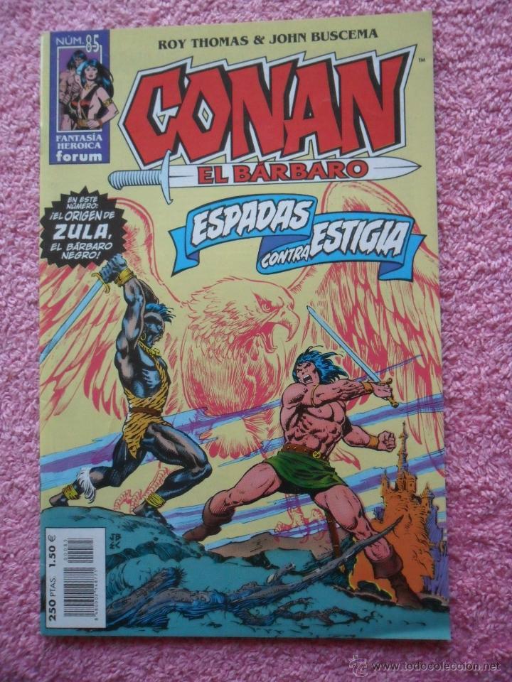 CONAN EL BARBARO 85 EDICIONES FORUM 2001 FANTASIA HEROICA CON POSTER (Tebeos y Comics - Forum - Conan)