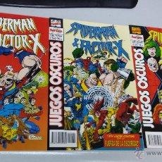 Cómics: SPIDERMAN & FACTOR-X : JUEGOS OSCUROS ¡ COMPLETA 3 NUMEROS ! MARVEL - FORUM. Lote 115553964