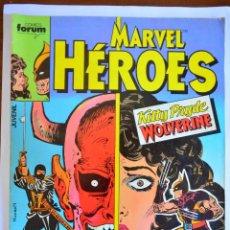 Cómics: MARVEL HÉROES 2; KITTY PRYDE Y WOLVERINE - FORUM 1987. Lote 45220676