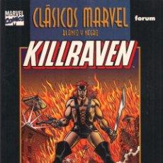 Cómics: KILLRAVEN 1, CLASICOS MARVEL BLANCO Y NEGRO FORUM. Lote 45518921