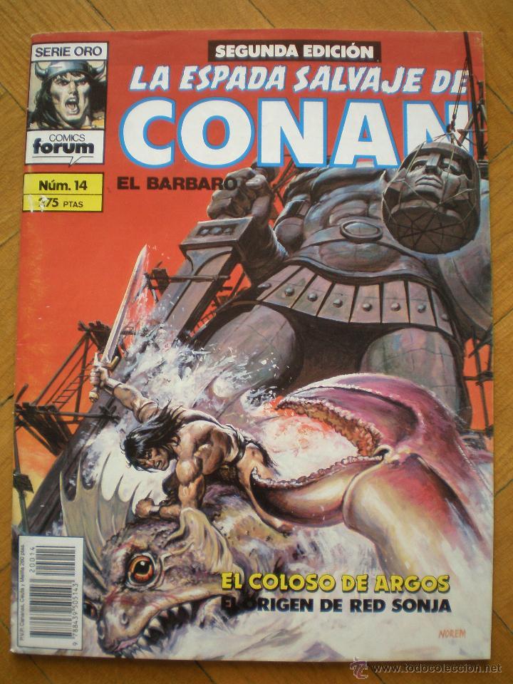 LA ESPADA SALVAJE DE CONAN. N° 14. FORUM SERIE ORO. 2° EDICION (Tebeos y Comics - Forum - Conan)