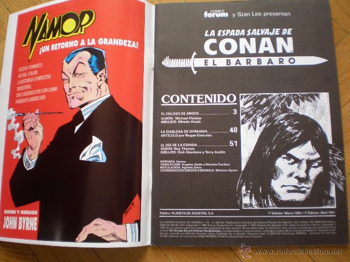 Cómics: LA ESPADA SALVAJE DE CONAN. N° 14. FORUM SERIE ORO. 2° EDICION - Foto 3 - 45549484