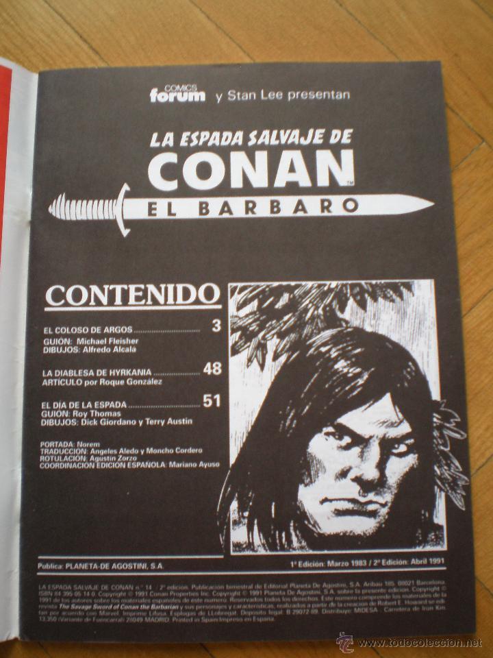 Cómics: LA ESPADA SALVAJE DE CONAN. N° 14. FORUM SERIE ORO. 2° EDICION - Foto 4 - 45549484