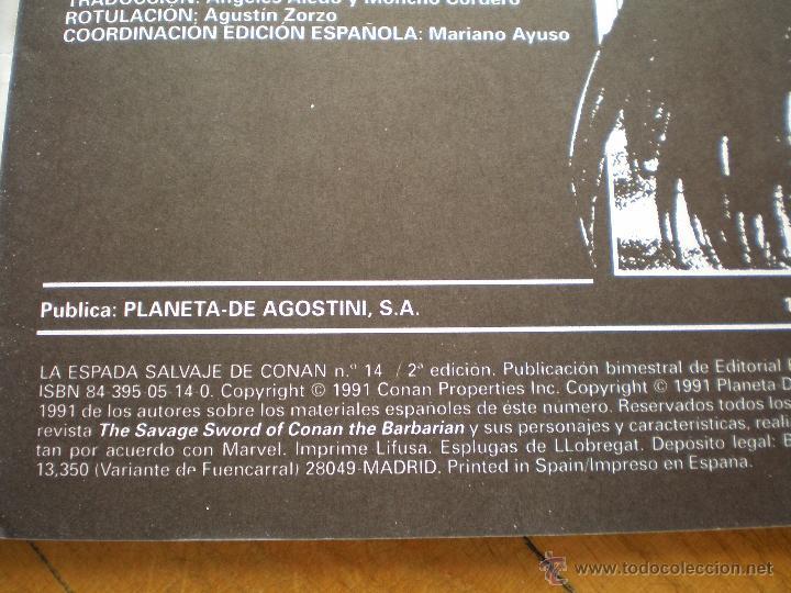 Cómics: LA ESPADA SALVAJE DE CONAN. N° 14. FORUM SERIE ORO. 2° EDICION - Foto 5 - 45549484
