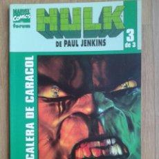 Cómics: HULK. ESCALERA DE CARACOL. TOMO 3. PAUL JENKINS. FORUM. Lote 45854465