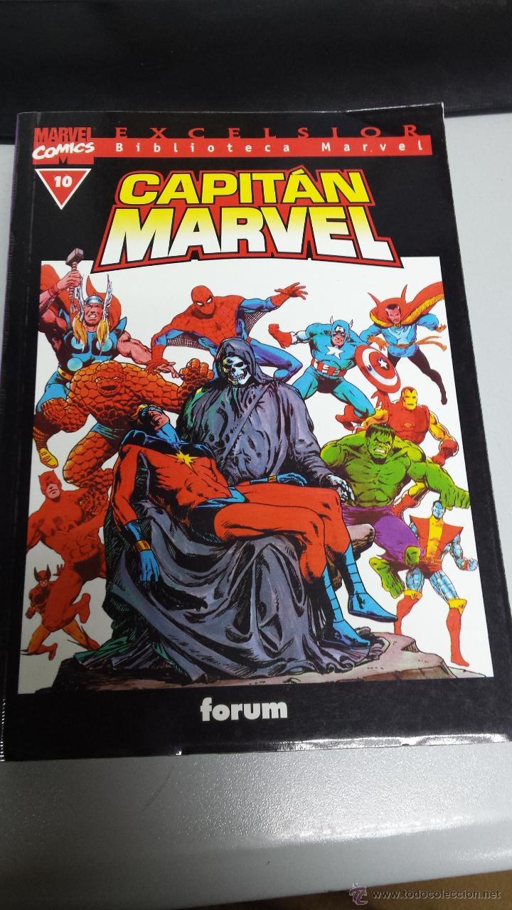 BIBLIOTECA MARVEL : CAPITAN MARVEL Nº 10 / FORUM (Tebeos y Comics - Forum - Otros Forum)