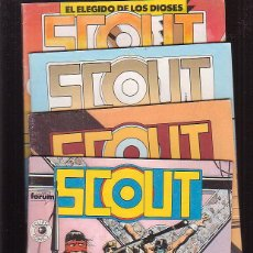 Cómics: SCOUT ,Nº 1, 2, 3, 4 ( ECLIPSE COMICS ) -EDITA : FORUM. Lote 46250004