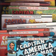 Cómics: CAPITÁN AMERICA - FORUM - COMPLETA - 76 NÚMS. + 2 ESPECIALES - MARVEL TWO IN ONE CON THOR. Lote 46338445