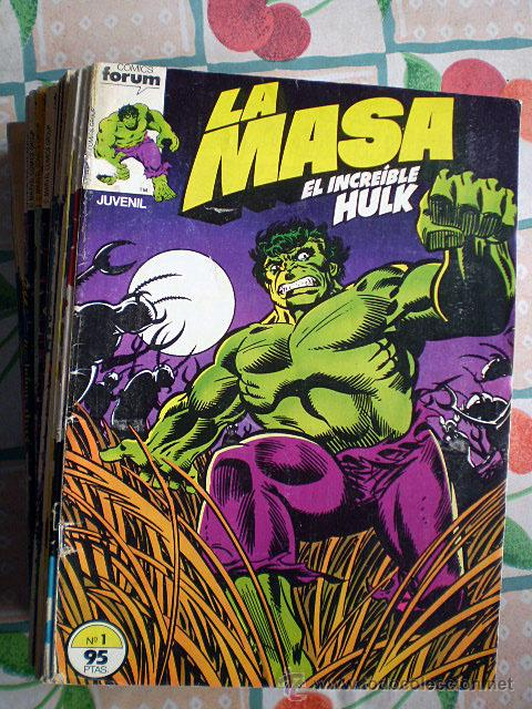 LA MASA (EL INCREÍBLE HULK) VOL. VOLUMEN 1 I (FORUM, COMPLETA, 49 NÚMEROS) (Tebeos y Comics - Forum - Hulk)