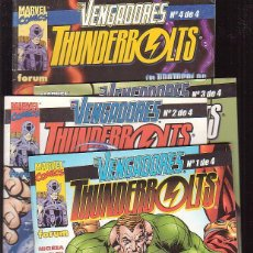 Cómics: VENGADORES VS THUNDERBOLTS - SERIE COMPLETA 4 EJEMPLARES -EDITA : FORUM. Lote 46512593