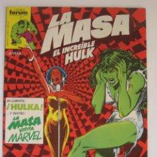 Cómics: LA MASA Nº 28. EL INCREIBLE HULK. FORUM. Lote 46701046