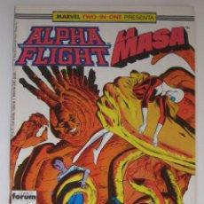 Cómics: ALPHA FLIGHT Nº 43. LA MASA.TWO-IN-ONE. FORUM. Lote 46701297