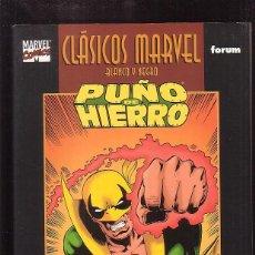 Cómics: CLASICOS MARVEL BLANCO Y NEGRO, PUÑO DE HIERRO, COMPLETA 2 TOMOS / CHIS CLAREMONT, JHON BYRNE. Lote 46838097