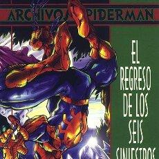 Cómics: ARCHIVOS SPIDERMAN EL REGRESO DE LOS SEIS SINIESTROS - FORUM 6 - MICHELINE LARSEN. Lote 79951638