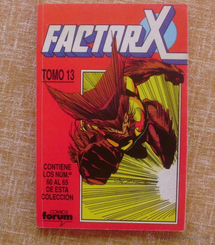 FACTOR X, TOMO 13, NÚMEROS 60 AL 65, EDITORIAL PLANETA DEAGOSTINI, COMICS FORUM, AÑO 1993, USADO (Tebeos y Comics - Forum - Factor X)