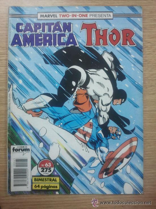MARVEL TWO IN ONE PRESENTA CAPITAN AMÉRICA THOR V1 NUM. 63 CONSERVA POSTER CENTRAL (Tebeos y Comics - Forum - Capitán América)