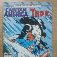 Cómics: MARVEL TWO IN ONE PRESENTA CAPITAN AMÉRICA THOR V1 NUM. 63 CONSERVA POSTER CENTRAL. Lote 47210843