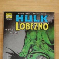 Cómics: HULK & LOBEZNO. SEIS HORAS. FORUM. MUY BUEN ESTADO.. Lote 47378290
