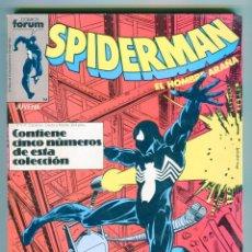 Cómics: SPIDERMAN EL HOMBRE ARAÑA RETAPADO TACO CON 5 NUMEROS DEL 151 AL 155 AÑOS 80. Lote 47399897