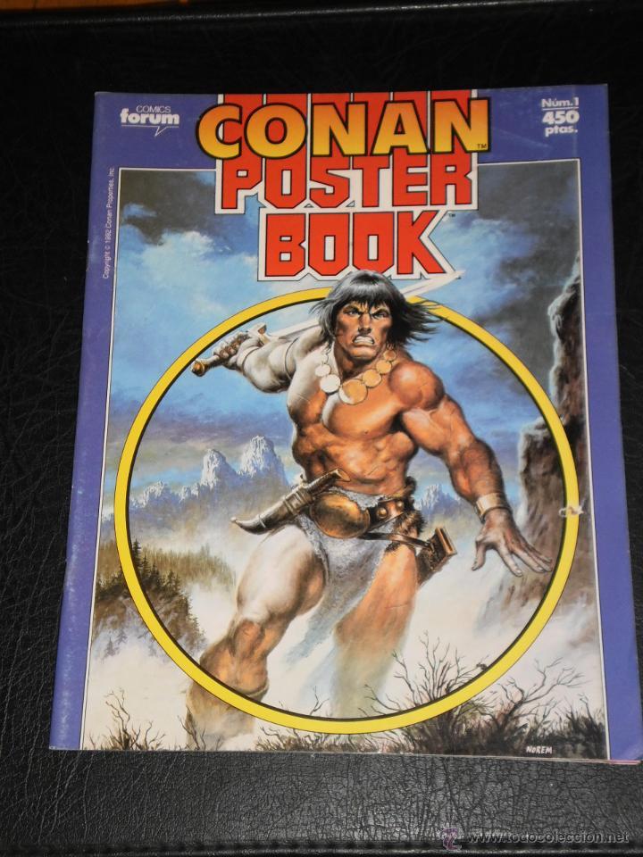 CONAN POSTER BOOK. Nº 1 - 1992 COMICS FORUM (Tebeos y Comics - Forum - Otros Forum)