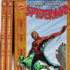 SPIDERMAN: STAN LEE Y STEVE DITKO (colección completa, 3 libros) FORUM, 2002-03.