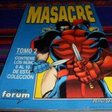 Cómics: FORUM RETAPADO MASACRE TOMO Nº 2 CON LOS NºS 6 7 8 9 10. MUY BUEN ESTADO Y RARO.. Lote 47585205