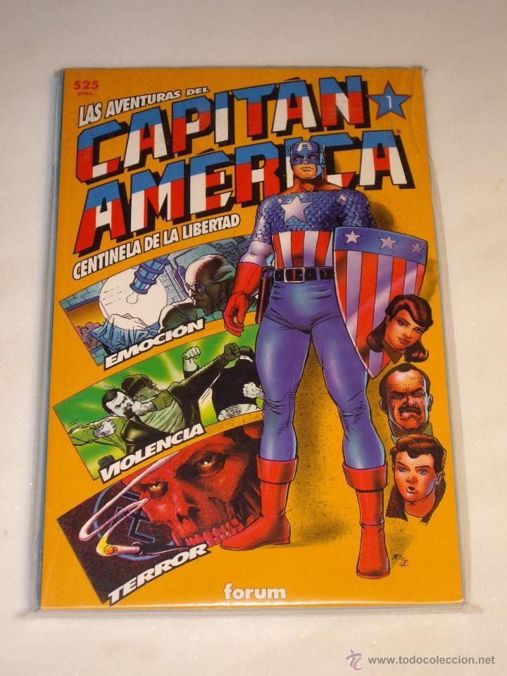 LAS AVENTURAS DEL CAPITAN AMERICA. Nº 1 AL 4. COMPLETA. FORUM. EXCELENTE ESTADO. (Tebeos y Comics - Forum - Capitán América)