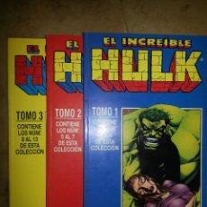 Cómics: HULK 1 A 13 EN TRES RETAPADOS. Lote 48152503