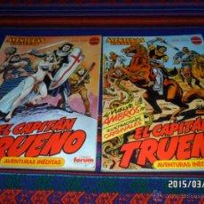 Cómics: CAPITÁN TRUENO 2 RETAPADOS FORUM AVENTURAS BIZARRAS SERIE ROJA COMPLETA CON NºS 1 A 10. RAROS. BE.. Lote 48293856