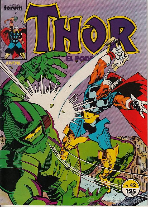 THOR VOL.1 # 42 (FORUM,1986) - WALTER SIMONSON (Tebeos y Comics - Forum - Thor)