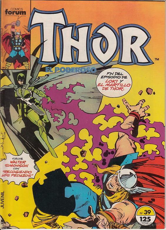 THOR VOL.1 # 39 (FORUM,1986) - WALTER SIMONSON (Tebeos y Comics - Forum - Thor)