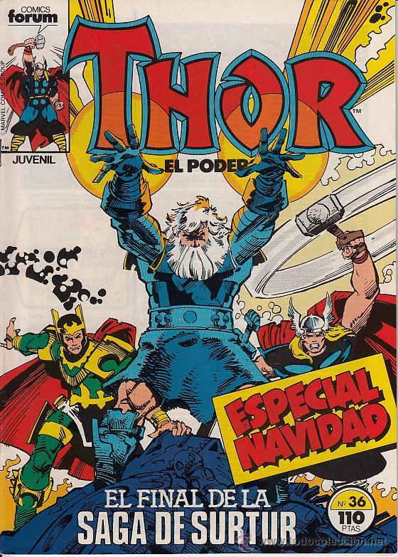 THOR VOL.1 # 36 (FORUM,1985) - WALTER SIMONSON (Tebeos y Comics - Forum - Thor)