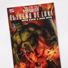Cómics: EL SUEÑO DE LOKI, PRESTIGE CON HULK, HANK PYM Y LA AVISPA.DAVID Y ESTES. FORUM, NUEVO. Lote 33526760