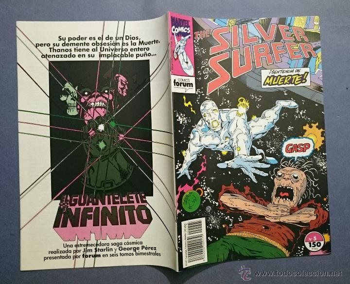 Cómics: SILVER SURFER VOL. 2 # 5 (FORUM) - ESTELA PLATEADA - 1992 - Foto 2 - 48824850