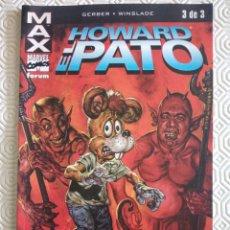 Cómics: MAX: HOWARD EL PATO TOMO 3 DE STEVE FERBER, PHIL WINSLADE. Lote 48887616
