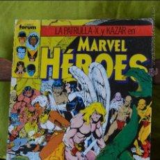 Cómics: LA PATRULLA X Y KAZAR EN MARVEL HEROES 34 - FORUM - MARVEL. Lote 49125377