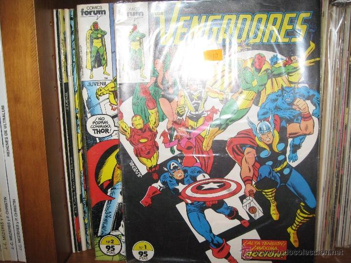 VENGADORES - VOLUMEN 1 - CASI COMPLETA - 1A EDICIÓN - 128 DE 132 NÚMEROS (Tebeos y Comics - Forum - Vengadores)