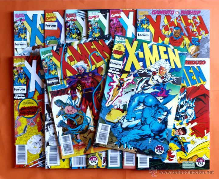LOTE DE 15 COMICS- MARVEL COMICS FORUM - X-MEN- NÚMEROS 1-2-3-4-5-6-7-8-9-10-11-12-13-14-15-AÑO 1992 (Tebeos y Comics - Forum - X-Men)
