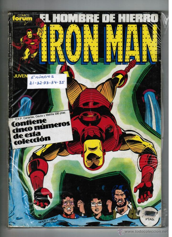 IRON MAN VOL 1 - RETAPADO NºS 31 - 32 - 33 - 34 - 35 - FORUM (Tebeos y Comics - Forum - Retapados)