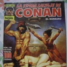 Cómics: LA ESPADA SALVAJE DE CONAN BÁRBARO Nº 138 - SERIE ORO - COMICS FORUM. Lote 50127997