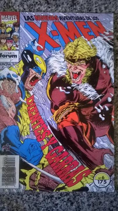 LAS NUEVAS AVENTURAS DE LOS X-MEN Nº 6 - COMICS FORUM - ESPAÑA - 1993 - DIENTES Y GARRAS (Tebeos y Comics - Forum - X-Men)