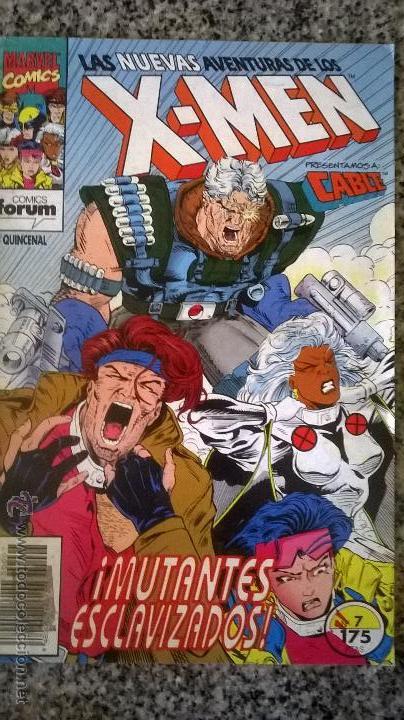 LAS NUEVAS AVENTURAS DE LOS X-MEN Nº 7 - COMICS FORUM - ESPAÑA - 1993 - MUTANTES ESCLAVIZADOS (Tebeos y Comics - Forum - X-Men)