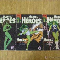 Cómics: MARVEL HEROES VOLUMEN 1 FORUM - NUMEROS 36 AL 38 - HULKA DE JOHN BYRNE - AVENTURA COMPLETA. Lote 50510118